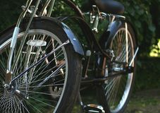 Retro bike. A black retro bike in a shopper style Royalty Free Stock Images