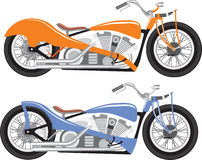 Retro bike. Bobber chopper motorcycle stock illustration
