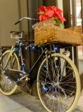 Retro bike on Christmas Stock Photos