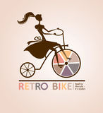Retro bike. Royalty Free Stock Photo