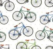 Retro bike pattern Stock Image