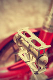 Retro bike pedal. Vintage style. Royalty Free Stock Photos