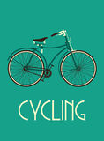Retro bike poster Stock Images