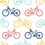 Retro bike seamless pattern stock illustration