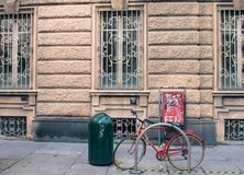 Retro bike turin italy streets royalty free stock images