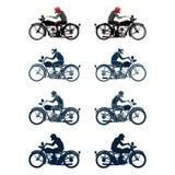 Retro_biker_set Imagen de archivo