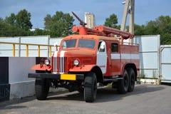 Retro bil för brand Fotografering för Bildbyråer