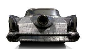 Retro bil från stycken av metalldubbar Royaltyfria Bilder