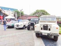 Retro bil i Chiang Mai, Thailand Arkivbilder