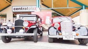 Retro bil i Chiang Mai, Thailand Arkivfoton