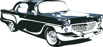 Retro bil i format 1 Royaltyfri Bild