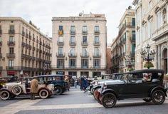 Retro bil i Spanien Royaltyfria Bilder