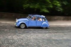 Retro bil på den Leopolis granda prixen 2013 Arkivbild
