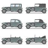 Retro bilar för vektor Royaltyfri Bild