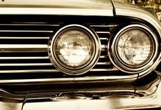 retro bilbillyktor Fotografering för Bildbyråer