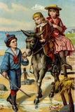 Retro bild av att spela för barn royaltyfri illustrationer