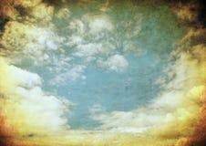Retro- Bild des bewölkten Himmels Stockfoto