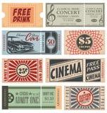 Retro bilety i talony ilustracji