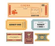 Retro bilety ustawiający ilustracji