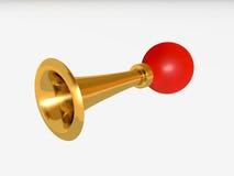 Retro bilhorn med mycket kraftigt ljud Royaltyfria Foton