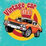 Retro bilklubba Arkivbilder