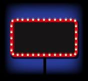 Retro billboard Sprzedaż i rabat, biznesowy sztandar, wektorowy illu Obrazy Royalty Free