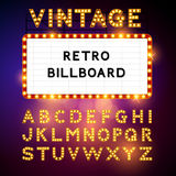 Retro Billboard Vector. Retro Billboard waiting for your message! Also includes glamorous vector alphabet Vector illustration vector illustration