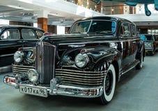 Retro billimousine, utställningshistoriemuseum, Ekaterinburg, Ryssland, 06 09 2014 år Royaltyfria Foton