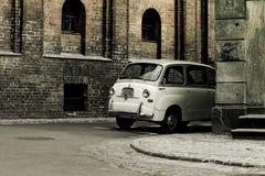 retro bilstad Royaltyfri Bild