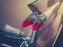Retro bilTailfindetalj Fotografering för Bildbyråer
