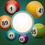 Retro bingo lotter ball background Stock Photography