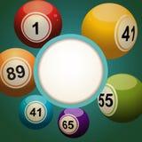 Retro bingo lotter piłki tło ilustracji