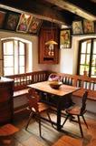 Retro binnenlands, houten meubilair Stock Foto