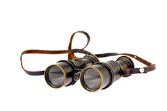 Retro binoculars Royalty Free Stock Photo