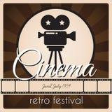 Retro biofestival Arkivfoton