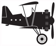 Retro biplane vector illustration