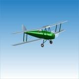 Retro biplane plane vector illusration. Vintage piston engine airplane. Retro biplane plane vector illusration Royalty Free Stock Images