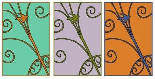 Retro Bird Design Set Stock Photos