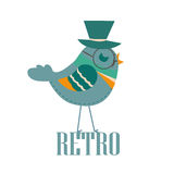 Retro bird Stock Photography