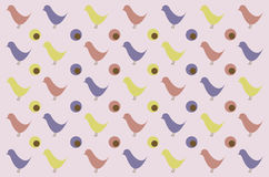 Retro bird pattern for background Stock Photos