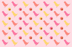 Retro bird pattern for background Royalty Free Stock Photos