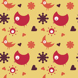 Retro Birds Background Royalty Free Stock Images