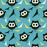 Retro birds background Stock Image
