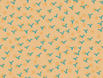 Retro Birds seamless pattern Hand drawn stylish abstract background Royalty Free Stock Photography