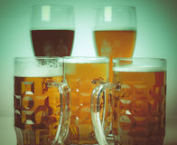 Retro birra del tedesco di sguardo Fotografia Stock Libera da Diritti