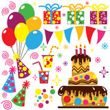 Retro Birthday Celebration Collection Royalty Free Stock Image
