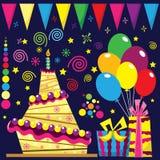 Retro Birthday Celebration Collection stock illustration