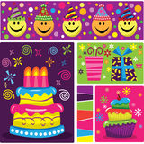 Retro Birthday Celebration Collection Stock Image