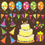 Retro Birthday Party Royalty Free Stock Images