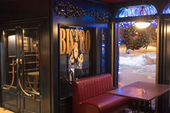 Retro bistro interior Stock Images
